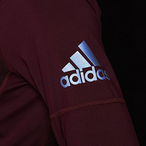 Adidas Kvinders Uddannelse Performer Baseline 1/4 Lynlås Langærmet Top Maroon Heathered JH0ily4y9U