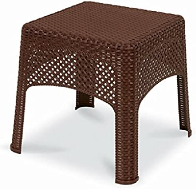Amazon Com Patio Umbrella Stand Wicker And Steel Side