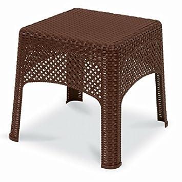 US Leisure 189982 Cappuccino Veranda Wicker Side Table
