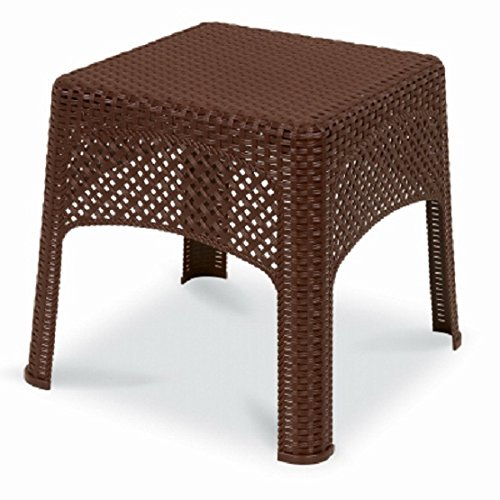 - US Leisure 189982 Cappuccino Veranda Wicker Side Table