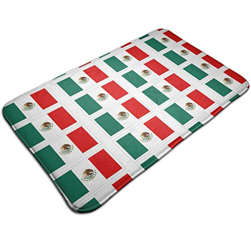 Coloring Pages Mexican Flag Printable Non-Slip Bathroom Rug Shower Mat Bath Mats with Water Absorbent Soft 31.5inch X 19.5inch