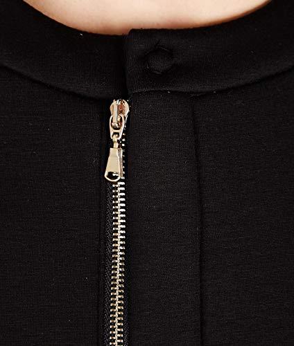 Mujer Kaos Chaqueta Negro Lpjtz0090001 Viscosa dRww8Xx