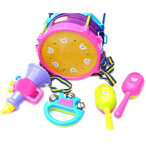 SUIE 1 Set Roll Drum Musical Instruments Band Kit Toy Gift Set for Kids Children
