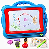 Tomons Magnetic Drawing Board,Travel Doodle Sketch Board Drawing Educational Toy for Kids to Draw on Magic Scribble Boards