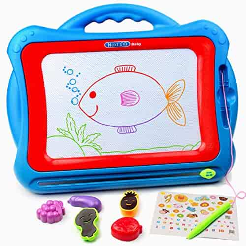 Tomons Magnetic Drawing Board Toy,15.75 Inch Doodle Board with Multi-Colors Drawing Screens, Erasable Sketch Writing Pad for Kids Toddler Boy Girl(Extra Large Size)