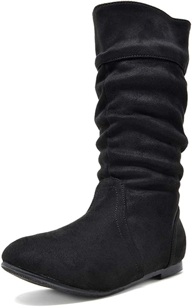 | DREAM PAIRS Girl's Faux Fur Lined Knee High Winter Riding Boots(Toddler/Little Kid/Big Kid) | Boots