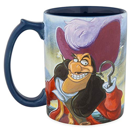 Disney Parks Peter Pan Captain Hook at Skull Rock Ceramic Coffee Mug New]()