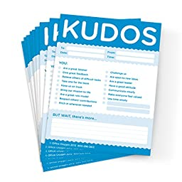 Kudos for Colleagues - set of 10 Note Pads (BLUE)