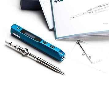 Frifer Kit de Soldadura portátil Mini Soldador Digital (65 W con Temperatura Regulable TS-b2), Metal, TS-BC2: Amazon.es: Hogar