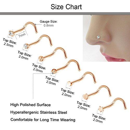 Buy rose gold nose stud