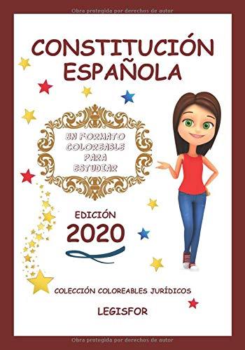 Constitución Española en formato coloreable para estudiar: Colección de Coloreables Jurídicos: Amazon.es: Legisfor: Libros