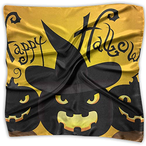 Staying Spooky Happy and Healthy On Halloween Womens Square Polyester Satin Neck Head Scarf Scarves Set Medium