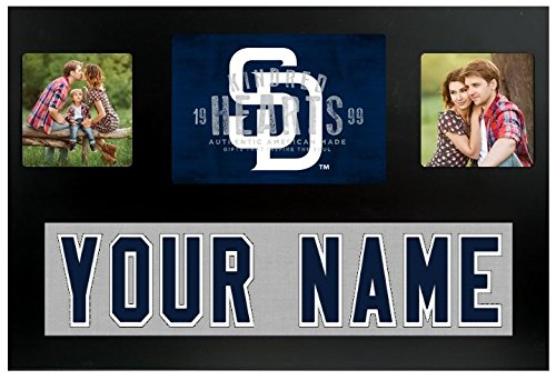 (San Diego Padres MLB Custom Jersey Nameplate and Logo Picture Frame)