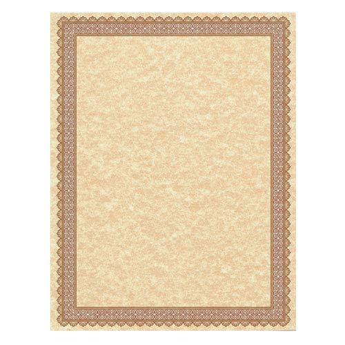 - Southworth Company 91350 Parchment Certificates, Vintage, 8 1/2 X 11, Copper, Burgundy/gold Border, 50/pk