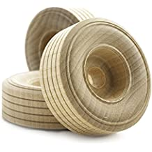 "2"" inch Treaded Wooden Toy Wheel at 3/4"" inch thick with a 3/8"" inch Hole - Bag of 20"