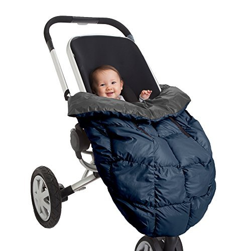 7AM Enfant Cygnet: 3-in-1 Cover for the Baby Carrier, Car-Seat and Stroller, Gray/Midnight Blue by 7AM Enfant