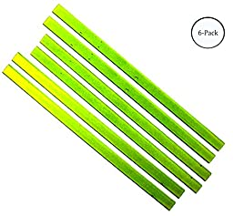 3 Pc Set O Neon Yellow Magnetic Strips For Floor, Wall, Or Metal Sign : ( Pack of 2 Sets )