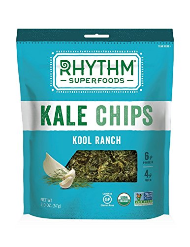 Rhythm Superfoods Kool Ranch Kale Chips, 2-Ounce (Pack of 4)