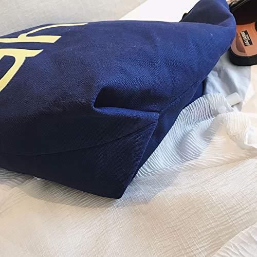 Travers ADKX Femmes Cher Capacité Main Portés Bleu Sacs Pas Sacs Main Porté Bandoulière Main Epaule Portés Large Toile Filles Sacs à Tissu Main Femme Portés en Sac rrBOwRZPq