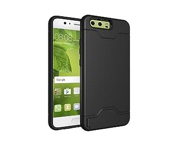 KATUMO Funda Huawei P10 Silicona, Carcasa Gel Bumper Cover Huawei P10 Funda Rigida Carcasa TPU Huawei P10-Negro
