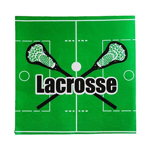 Lacrosse Party Plus Black Party Napkins Supplies, 6