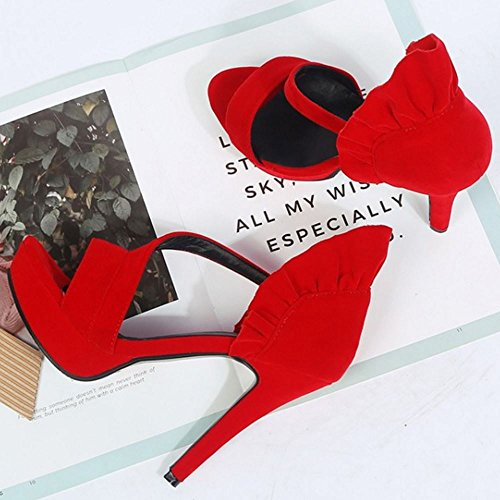 Slip Tacon Estilete Rojo Zanpa Sandalias On Mujer tS4TaaqgW