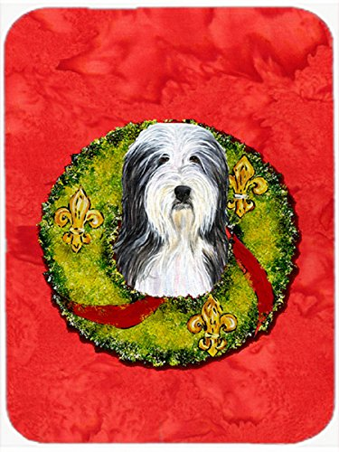 Carolines Treasures SS4186LCB Bearded Collie Glass Cutting Board Large Multicolor
