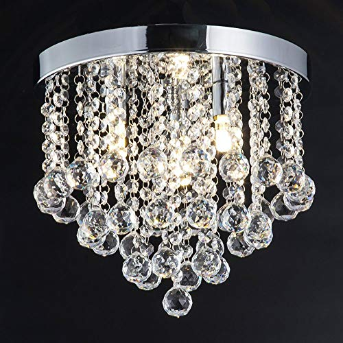 Beyonds Supreme Luxury Ceiling Light Flush Mounted Crystal Ceiling Lamp, 11.8