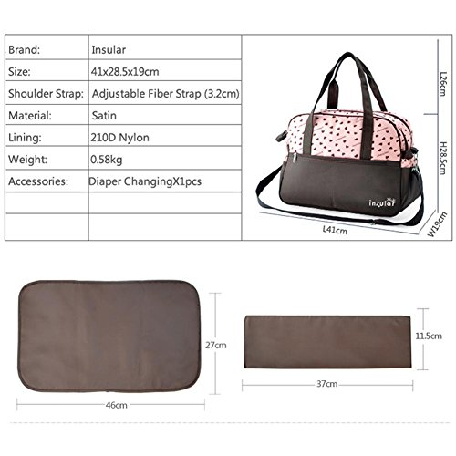 Expectant Large Bag Printing for One functional Insular Mummy Rosado Multi Trailer Capacity Portable Crossbody Flower205 Shoulder Elegant xY1Hq4