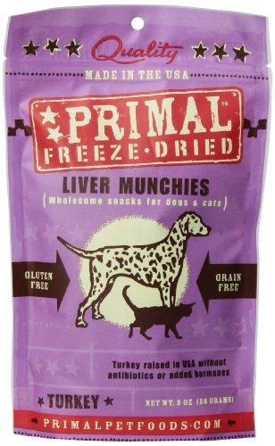 Primal Pet Foods Turkey Liver Munchies Pet Treat 2 oz