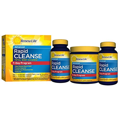 Renew Life Adult Cleanse - Total Body Cleanse, Rapid Cleanse - 3 Part, 7-Day Program (Best 3 Day Detox Program)