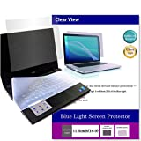 (Media Cover Market)Silicon keyboard cover and a set of Screen Protector[Glossy type] to block the blue light for 11.6 inch monitor[16:9] models