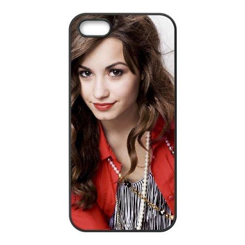 Demi Lovato 005 coque iPhone 4 4S cellulaire cas coque de téléphone cas téléphone cellulaire noir couvercle EEEXLKNBC24510