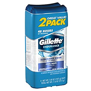 Gillette Cool Wave Clear Gel Men's Antiperspirant and Deodorant 3.8 oz each 2-Pack Packaging may Vary