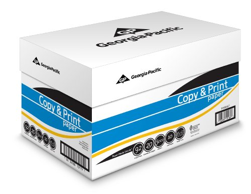 GP Copy and Print Paper, 8.5 x 11 Inches Letter Size, 92 Bright White, 20 Lb, 10 Reams/Carton (5000 Sheets) (998067)