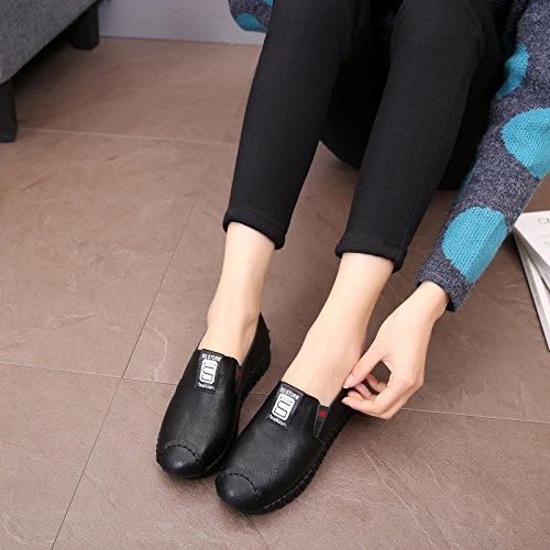 bajo Zapatillas Un Parte Mujer Pedal Gtvernh Inferior De Zapatos Casuales Únicos Plana Rojo Suave Ayuda verano UYFId