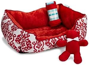 Waverly 3-Piece Pet Bed Gift Set, Lipstick
