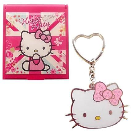 Hello Kitty Blossom Dreams Juego de Espejo y Llavero: Amazon ...