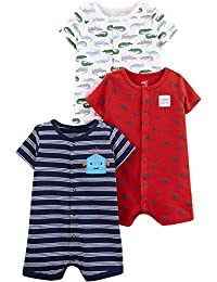 e8a7bae0f Baby Boys' 3-Pack Snap-up Rompers