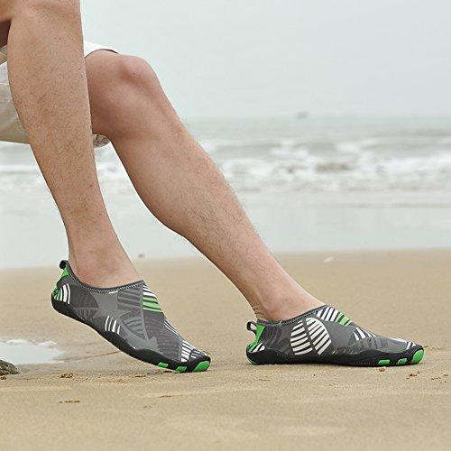 Z.suo Barefoot Schoenen Mannen Vrouwen En Kinderen Sneldrogend Water Schoenen Aqua Sokken Voor Strand Zwembad Surf Yoga Oefening Grijs