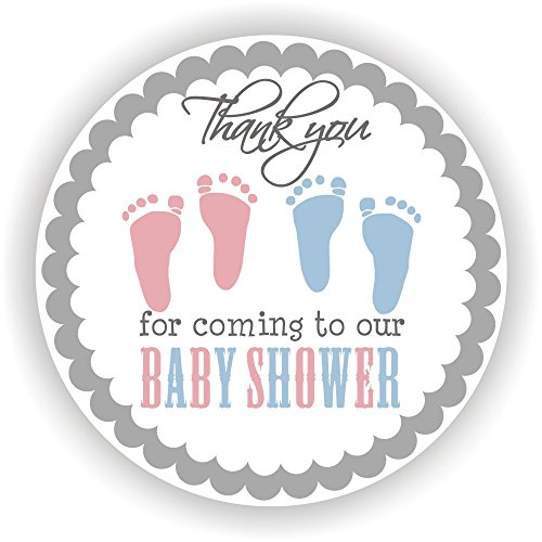 Baby Shower Stickers - Baby Twins Stickers - Favor Stickers - Baby Shower Favor Stickers - Set of 40 Stickers