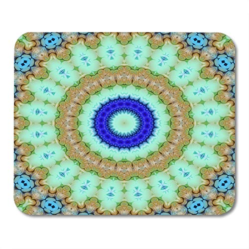 Nakamela Mouse Pads Circle Colorful Arabic Creative Abstract Color Mandala Floral Style Raster Glass Decorator Mouse mats 9.5