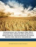 Philosophie Als Denken der Welt Gemäss Dem Princip des Kleinsten Kraftmasses, Richard Heinrich Ludwig Avenarius, 1147836205