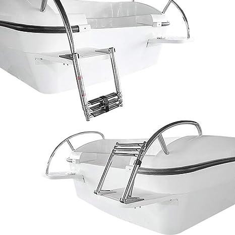 Escalera extensible// Escalera telesc/ópica Escalera telesc/ópica para Barcos Acero Inoxidable de 3 Pasos para yate Marino//Piscina