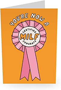 """Central 23 - Funny New Baby Card - """"Certified Milf"""" - For Mom Wife Girlfriend"""