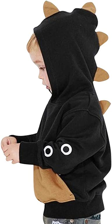 YanHoo Ropara niños Sudadera con Capucha de Dinosaurio con Capucha de Manga Larga para niños Mangas largas para bebés niño niños Camiseta Ropa de ...