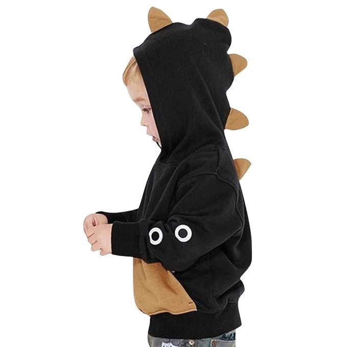 YanHoo Ropa para niños Sudadera con Capucha de Dinosaurio con Capucha de Manga Larga para niños Mangas largas para bebés niño niños Camiseta Ropa de niños: ...