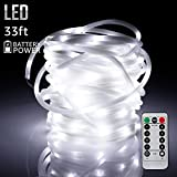 TORCHSTAR 33ft 100LEDs Fairy String Lights with Remote Control, Weatherproof Copper Wire, Battery