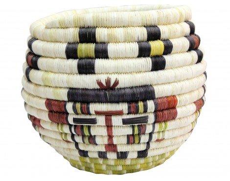 Alicia Adams, Hopi Coil, Kachina Faces Basket, 8 1/4