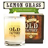 Scented Candles - Lemongrass - Decorative Aromatherapy - 11-Ounce Soy Candle - from Old Factory Candles